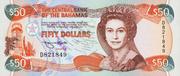 50 Dollars (Elizabeth II; 1 horizontal & 1 vertical serial numbers) – avers