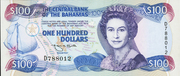 100 Dollars (Elizabeth II; 1 horizontal & 1 vertical serial numbers) – avers