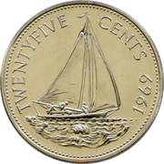 25 cents - Elizabeth II -  revers