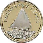 25 cents Elizabeth II (magnétique) -  revers