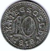 10 pfennig - Baligen – revers