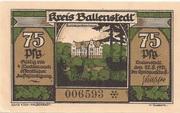 75 Pfennig (Ballenstedt) – avers