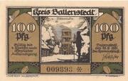 100 Pfennig (Ballenstedt) – avers