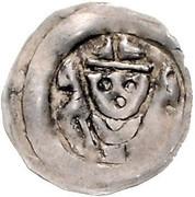 1 pfennig Berthold von Leiningen – avers