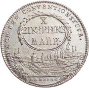 1 thaler Christoph Franz de Buseck (Konventionstaler) – revers