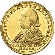 1 ducat Christoph Franz de Buseck – avers