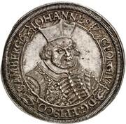 1 thaler Johann Georg II Fuchs de Dornheim – avers