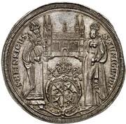 1 thaler Johann Georg II Fuchs de Dornheim – revers