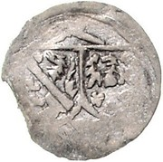 1 pfennig Albrecht von Wertheim – avers