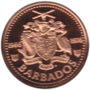 1 cent (10ème anniversaire de l'Indépendance) – avers