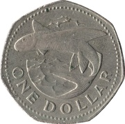 1 Dollar - Elizabeth II (large type) – revers