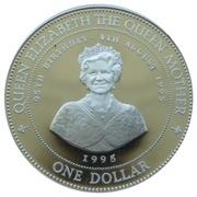 1 Dollar - Elizabeth II (Queen Elizabeth the Queen Mother) - Silver Proof – revers