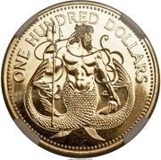 100 Dollars - Elizabeth II (Neptune) – revers