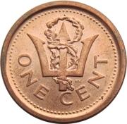 1 cent (Magnétique) – revers