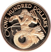100 Dollars - Elizabeth II (Triton) – revers