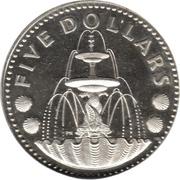 5 dollars (BE) – revers