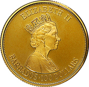 100 Dollars - Elizabeth II (Parlement) – avers