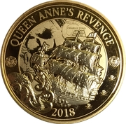25 Cents (Pirates of Barbados - Blackbeard's Ship the Queen Anne's Revenge) – revers