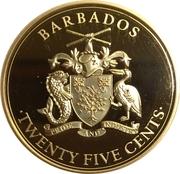 25 Cents (Pirates of Barbados - Blackbeard) – avers