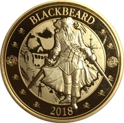 25 Cents (Pirates of Barbados - Blackbeard) – revers