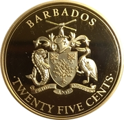 25 Cents (Pirates of Barbados) – avers