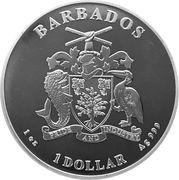 1 Dollar (Caribbean Silver - Seahorse) – avers