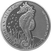 1 Dollar (Caribbean Silver - Seahorse) – revers