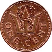 1 cent (Lourde) -  revers