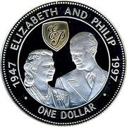 1 dollar Elizabeth and Philip 1947-1997 – revers