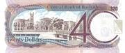 20 Dollars commemorative banknote – revers