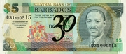 5 Dollars commemorative banknote – avers