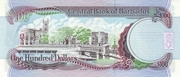 100 dollars commemorative banknote -  revers