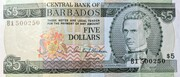 Barbados 5 Dollar – avers