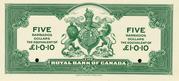 5 Dollars (Royal Bank of Canada) – revers