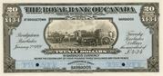20 Dollars (Royal Bank of Canada) – avers