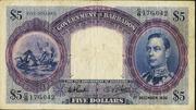 5 Dollars (George VI) – avers