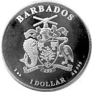 1 Dollar (Seahorse) – avers