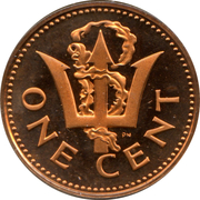 1 cent (Lourde) – revers