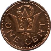 1 cent (10ème anniversaire de l'Indépendance) – revers