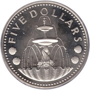 5 dollars  (Independance - BE) – revers