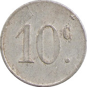 10 Centimes Union des Commercants de Barbaira [11] – revers