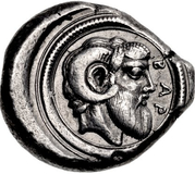 Tetradrachm (Barke; Kyrenaica) – revers