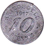 10 Pfennig - Barmen – revers