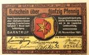 50 pfennig (Barntrup) – avers
