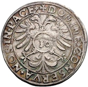 ½ Guldenthaler (1/2 Plancustaler) – revers