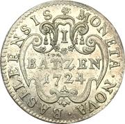 1 batzen - Johann Conrad II – revers