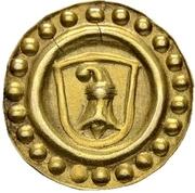 1 Rappen (Gold pattern strike) – avers