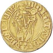 1 Goldgulden - Friedrich III. with Philipp von Weinsberg – revers