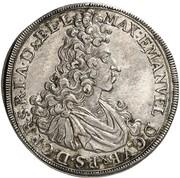 ½ thaler Maximilian II Emanuel – avers