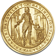 5 Ducat -Maximilian I (Trade Coinage) – avers